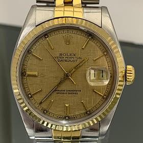 Rolex 1601 datejust 2 tone